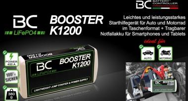 NOVINKA! Chytrý startovací zdroj BC BOOSTER K1200 EVO