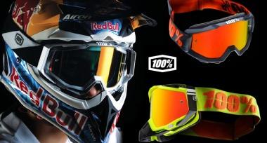Doplněné sklady motokrosových brýlí 100%