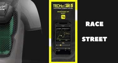 Nové algoritmy RACE a STREET v airbagové vestě Tech-Air 5